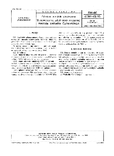 Górnicze zapalniki elektryczne - Sprawdzanie zdolności inicjalnej metodą wahadła Cybulskiego BN-86/6094-43/15