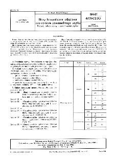 Błony fotograficzne zdjęciowe czarno-białe powszechnego użytku - Podział, zakres normy i postanowienia ogólne BN-81/6121-02.00