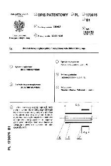 Układ strefowej ciągłej regulacji mocy grzejnej wzbudnika indukcyjnego : opis patentowy nr 173976