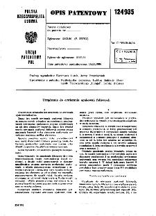 Urządzenie do otwierania opakowań foliowych : opis patentowy nr 124935