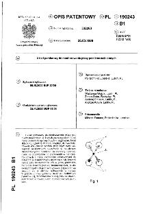 Układ pomiarowy do monitorowania pracy palników naściennych : opis patentowy nr 190243