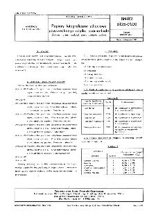 Papiery fotograficzne zdjęciowe powszechnego użytku czarno-białe - Zakres normy, podział, postanowienia ogólne BN-82/6125-01.00