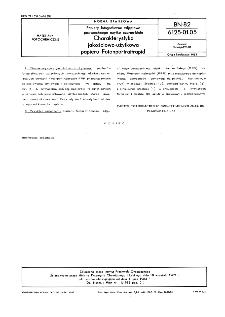 Papiery fotograficzne zdjęciowe powszechnego użytku czarno-białe - Charakterystyka jakościowo-użytkowa papieru Fotonportraitrapid BN-82/6125-01.05