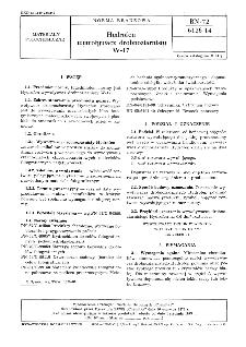 Hydrofen wywoływacz drobnoziarnisty W-17 BN-72/6126-14