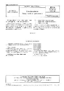 Fotochemikalia - Napisy i znaki na opakowaniach BN-76/6126-18 Arkusz 08