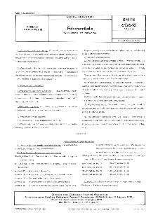 Fotochemikalia - Oznaczanie pH roztworów BN-78/6126-18 Arkusz 22
