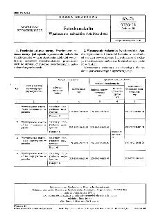 Fotochemikalia - Wyznaczanie wskaźnika światłoczułości BN-76/6126-18 Arkusz 25