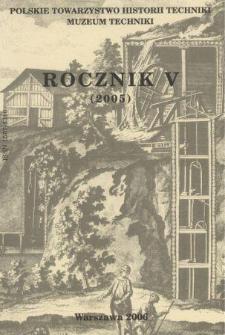 Rocznik / Polskie Towarzystwo Historii Techniki 5 (2005)