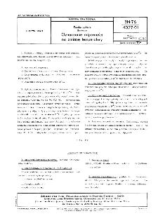 Emalie szkliste - Badania - Oznaczanie odporności na zmianę temperatury BN-76/4027-01