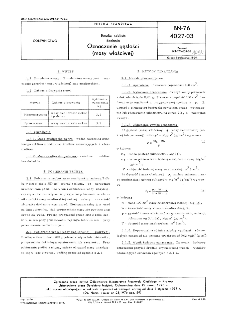 Emalie szkliste - Badania - Oznaczanie gęstości (masy właściwej) BN-76/4027-03
