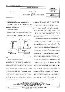 Emalie szkliste - Badania - Oznaczanie punktu mięknienia BN-76/4027-04