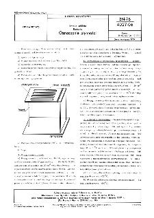 Emalie szkliste - Badania - Oznaczanie płynności BN-76/4027-0