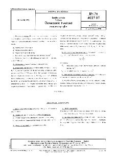 Emalie szkliste - Badania - Oznaczanie trwałości zawiesiny glin BN-76/4027-07