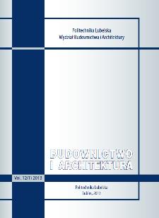 Budownictwo i Architektura Vol. 12(1)2013