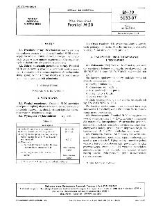 Kleje kauczukowe - Pronikol M-20 BN-79/6033-07