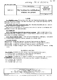Klej fenolowo-formaldehydowy wiążący na gorąco BN-67/6317-01
