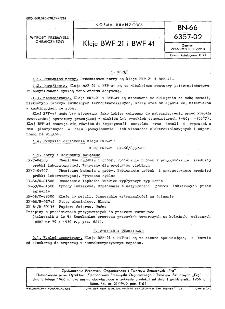Kleje BWF-21 i BWF-41 BN-66/6357-02
