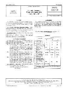 Kleje poliwinylooctanowe - Kleje introligatorskie CM,CR i CP BN-73/6357-04