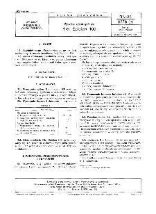 Żywice epoksydowe - Klej Epidian 100 BN-88/6378-01