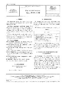 Kleje poliwinylooctanowe - Klej POW/FDB BN-72/6393-01