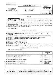 Hydrofobol T BN-65/0539-05