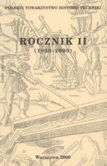 Rocznik / Polskie Towarzystwo Historii Techniki 2 (1999-2000)