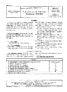 Środki pomocnicze dla włókiennictwa - Melaform WM-100 BN-67/6061-03