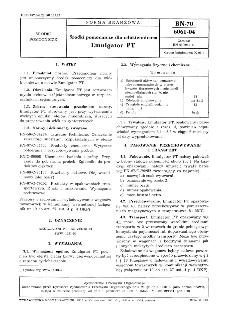Środki pomocnicze dla włókiennictwa - Emulgator PT BN-70/6061-04