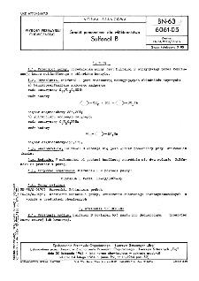 Środki pomocnicze dla włókiennictwa - Sulfanol B BN-63/6061-05