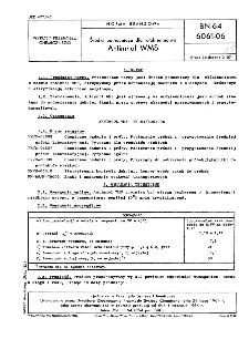 Środki pomocnicze dla włókiennictwa - Antimnol WMS BN-64/6061-06