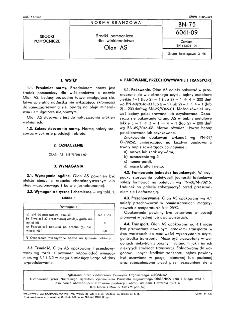 Środki pomocnicze dla włókiennictwa - Olan AS BN-75/6061-09