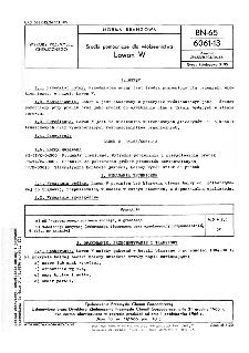Środki pomocnicze dla włókiennictwa - Lawon W BN-65/6061-13