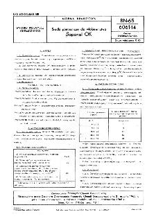Środki pomocnicze dla włókiennictwa - Saponal OK BN-65/6061-14