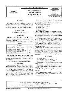 Środki pomocnicze dla włókiennictwa - Olej turecki W BN-80/6061-17
