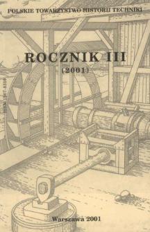 Rocznik / Polskie Towarzystwo Historii Techniki 3 (2001)