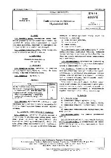 Środki pomocnicze dla włókiennictwa - Hydrofobol BX BN-74/6061-18