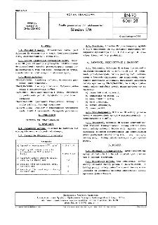 Środki pomocnicze dla włókiennictwa - Silesian EM BN-70/6061-28