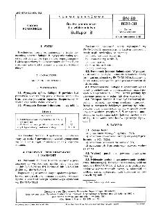 Środki pomocnicze dla włókiennictwa - Sulfapol B BN-80/6061-30