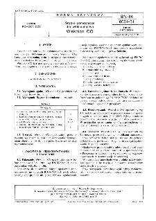 Środki pomocnicze dla włókiennictwa - Wiskolan CO BN-84/6061-31