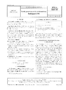 Środki pomocnicze dla włókiennictwa - Sulfapol PW BN-71/6061-32