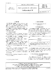 Środki pomocnicze dla włókiennictwa - Sulfoerukol W BN-72/6061-35