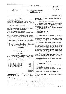 Środki pomocnicze dla garbarstwa - Olej turecki G BN-70/6063-04