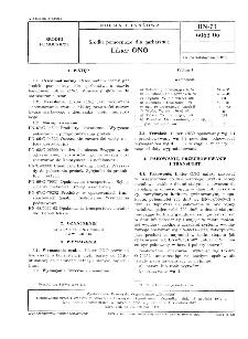 Środki pomocnicze dla garbarstwa - Likier ONO BN-71/6063-06