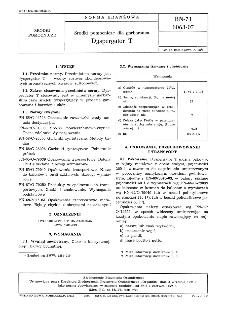 Środki pomocnicze dla garbarstwa - Dyspergator T BN-71/6063-07