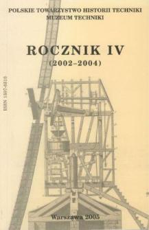 Rocznik / Polskie Towarzystwo Historii Techniki 4 (2002-2004)