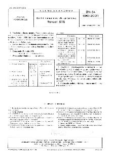 Środki pomocnicze dla garbarstwa -Roksol STE BN-84/6063-20/21