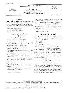 Środki pomocnicze dla przemysłu gumowego - Fenylobetanaftyloamina BN-73/6064-08