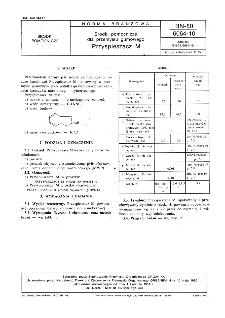 Środki pomocnicze dla przemysłu gumowego - Przyspieszacz M BN-80/6064-10