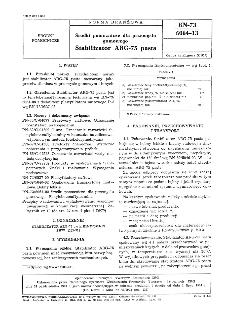 Środki pomocnicze dla przemysłu gumowego - Stabilizator ARG-75 pasta BN-73/6064-13