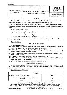 Środki pomocnicze do tworzyw sztucznych - Pianofor AN surowy BN-63/6065-01